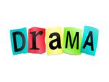 Drama concept. poster