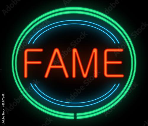 Fame concept.