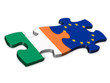 EU & Irish Flags (Ireland EU European politics jigsaw)