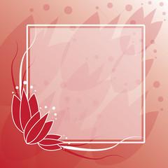 Tulip Frame Background