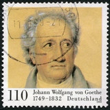 GERMANY-1999: shows Johann Wolfgang von Goethe (1749-1832), Poeе