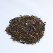 Heap of dry tea isolated on white
