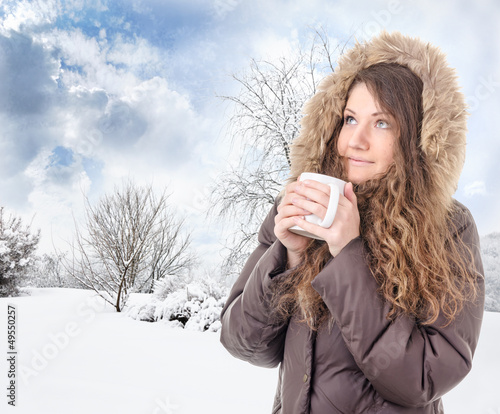 nice hot drink on a cold