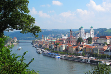 Passau, The City of Three Rivers, Bavaria, Germany