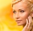 Beautiful young blond woman portrait