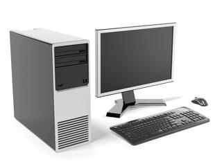 Modern black desktop computer