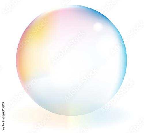 虹色のシャボン玉、ボール