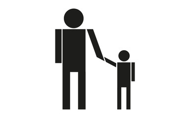 Erwachsener reicht Kind die Hand