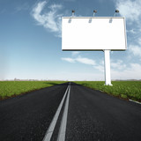 the billboard and road outdoor