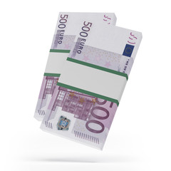 Packets of 500 Euro notes