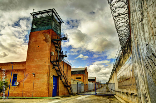 HDR Prison and barbed wire