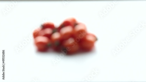 Tomatoes on a white background