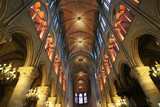 The interior of the Notre Dame de Paris, France