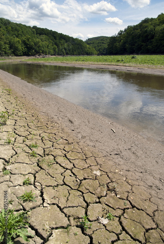 Drying river, dryness