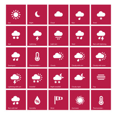 Weather icons | Metro Style