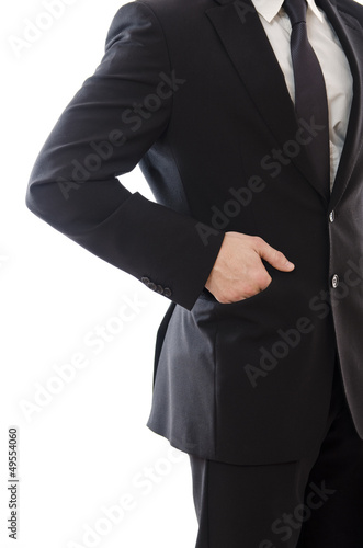 Suit man: hand in pocket
