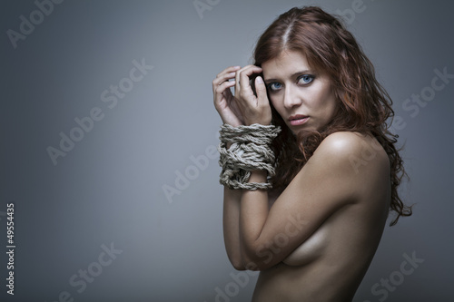 redhaired woman bondage