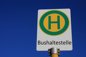 Haltestellenschild Bushaltestelle