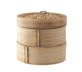 Bamboo container for steaming asian food, Japanese Chinese Vietn