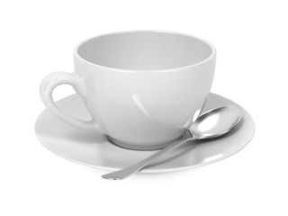 Cup with Spoon and Saucer.
