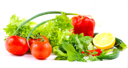 Salad  Isolated white background