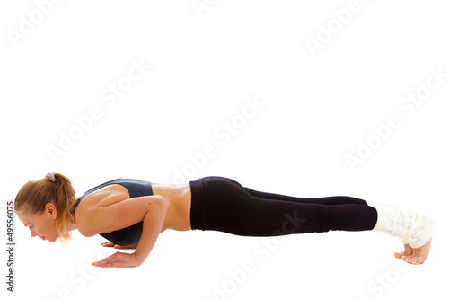 yoga,  isolated, on  white
