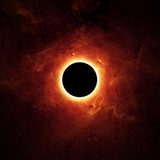 Fototapety Full eclipse, black hole