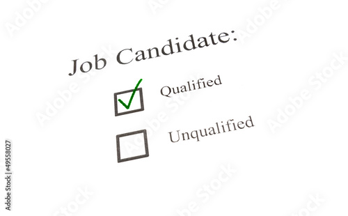 qualified candidate check