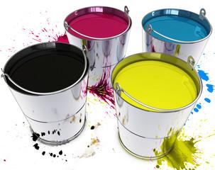 Farbe im Eimer