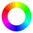 RGB color wheel with separate colors
