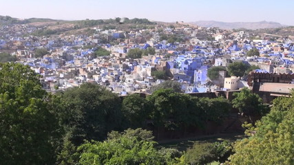 blue city Jodphur view in Rajasthan, India