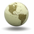 Political world globe on white background. 3d