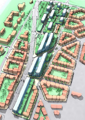 Illustration of a new urban sustainable development area