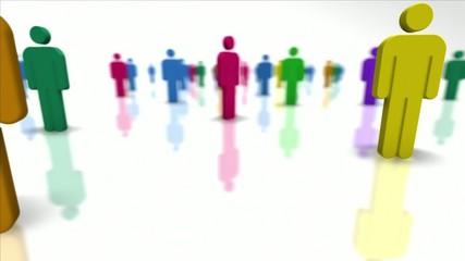 Colorful Team Members. Human resources. Looping.