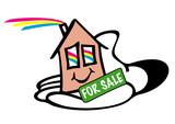 Haus, Immobilie, Verkauf, Haende, Daumen hoch, Makler