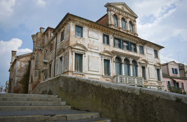 Abandoned renaissance building in Chioggia, Italy