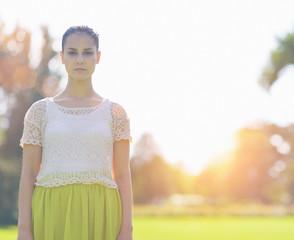 Portrait of girl on meadow
