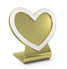 Heart Golden Icon