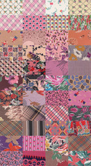 collection of quilt backgrounds - rose