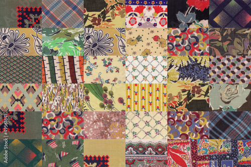 collection of quilt backgrounds - beige