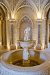 Beautiful fountain inside castle in Sintra. Monserrate