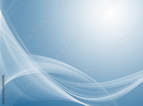 Gentle white waves on blue background