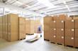 Leinwanddruck Bild - industrielle Lagerung // commercial  storage
