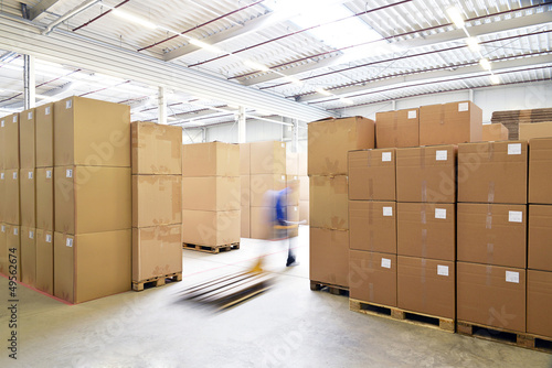 Leinwanddruck Bild industrielle Lagerung // commercial  storage