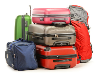 Luggage consisting of large suitcases rucksack and travel bag
