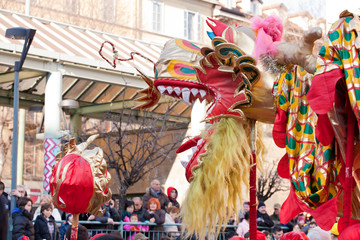 Chinese New Year parade in Milan