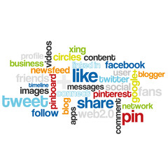 Tag Cloud Social Media Coloured