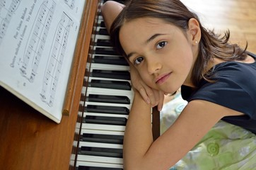 Dreamy Young Pianist