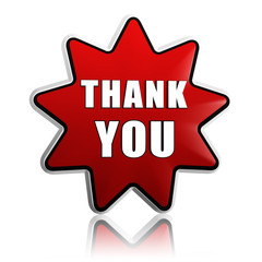 thank you in red star banner