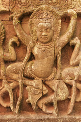 Decorative wall carving, Terrace of the Leper King,  Cambodia